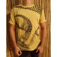 Tee shirt Bouddha flower jaune vif