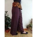 Pantalon thaï revers marron rayong