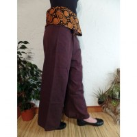 Pantalon thaï revers marron rayong