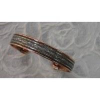 Bracelet magnétique martelé