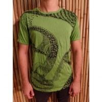 Tee shirt Bouddha flower vert