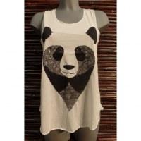 Débardeur tête de panda