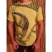 Tee shirt Bouddha flower jaune