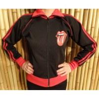 Veste noir/rouge Rolling Stones