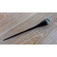 Baguette pic cheveux coquillage turquoise