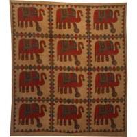 Tenture beige maxi les 12 éléphants