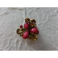 Petite pince cheveux strass flower rose