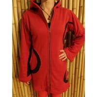 Veste coquelicot rouge