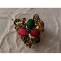 Petite pince strass vert/rose/rouge/bleu