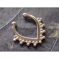 Bijou septum mini perles