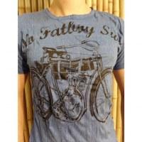 Tee shirt bicyclette bleu