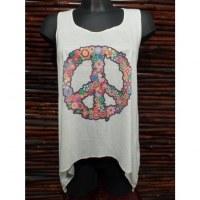 Débardeur femme peace & love 2