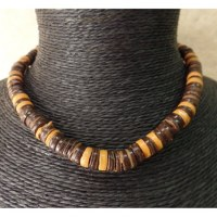 Collier kalung marron