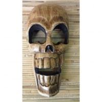 Masque en bois crâne
