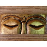 Tableau les yeux de Bouddha doré