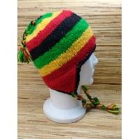 Bonnet en laine rasta