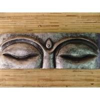 Tableau les yeux de Bouddha argent