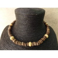 Collier Padang marron