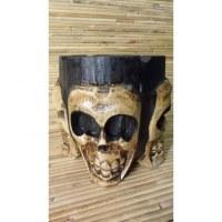 Cendrier rond 4 crânes