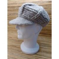 Casquette en laine gavroche gris clair
