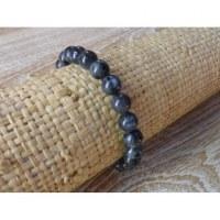 Bracelet mala labradorite noire
