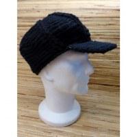 Casquette en laine gavroche noire