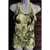 Débardeur femme jaune vif Ganesh