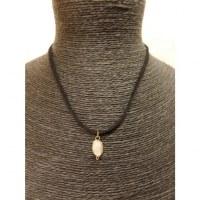 Collier cordon pendentif cristal de roche