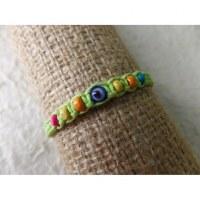 Bracelet vert anis oeil