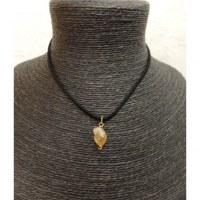 Collier cordon pendentif citrine