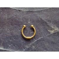 Bijou septum spiralé jaune