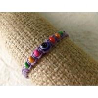Bracelet violet oeil