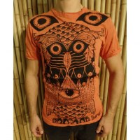 Tee shirt orange chouette enigma