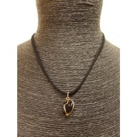 Collier cordon pendentif tourmaline noire