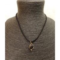Collier cordon pendentif onyx noire