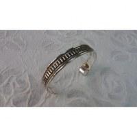 Bracelet argenté vaguelette