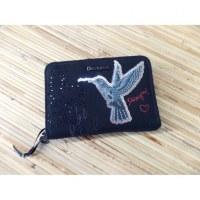 Portefeuille magnetic black bird