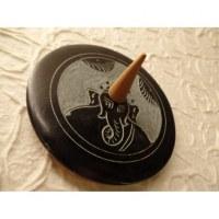 Porte encens noir/gris Ganesh