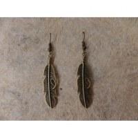 Boucles d'oreilles petites plumes