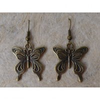 Boucles d'oreilles les papillons