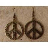Boucles d'oreilles gravées peace and love