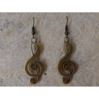 Boucles d'oreilles clé de sol