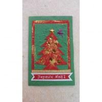 Carte joyeux noël sapin rouge