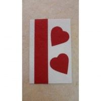 Carte St Valentin coeurs rouges
