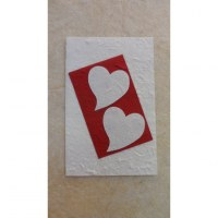 Carte St Valentin coeurs blancs