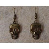 Boucles d'oreilles skull