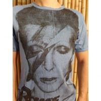 Tee shirt David Bowie bleu