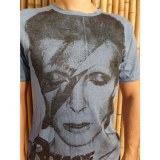 Tee shirt David Bowie bleu