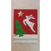 Carte le sapin le renne et l'étoile polaire