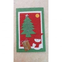 Carte noël bonhomme de neige et cadeau